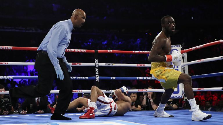 Crawford stopped Brook's rival Amir Khan