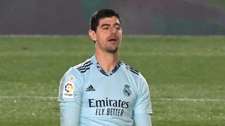 Thibaut Courtois' late mistake gave Alaves victory over Real Madrid