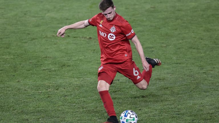 Toronto defender Tony Gallacher in action during his loan spell from Liverpool (Pic: USA Today/MLS)