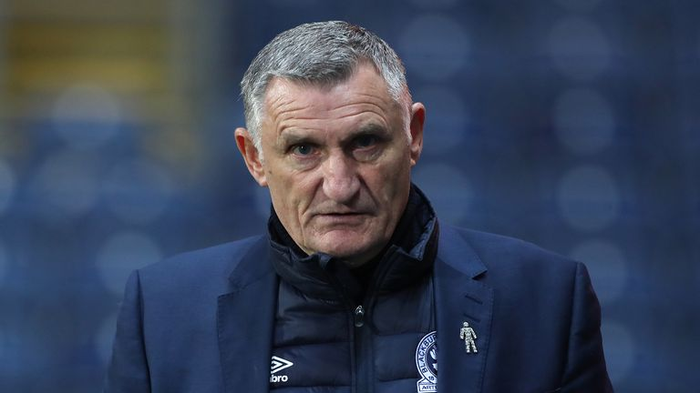 Tony Mowbray of Blackburn Rovers during the Sky Bet Championship match between Blackburn Rovers and Middlesbrough at Ewood Park on November 3, 2020 in Blackburn, England.