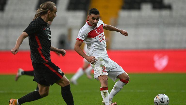 Domagoj Vida played the first half of Croatia's 3-3 draw with Turkey