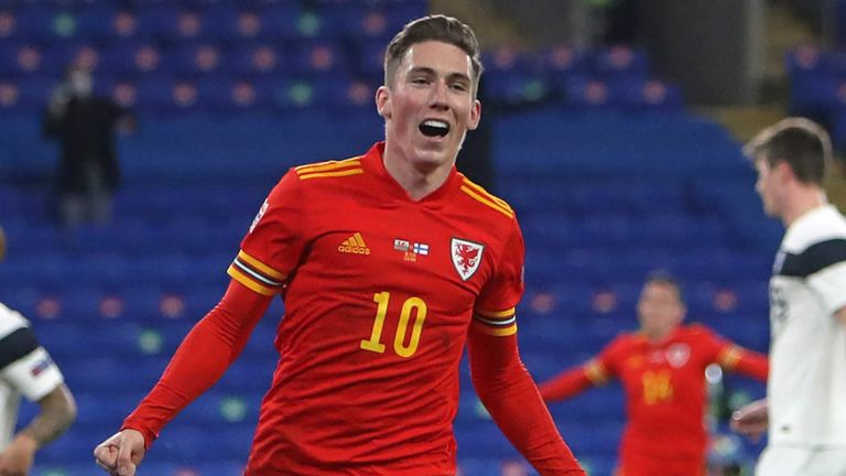 HARRY WILSON SCORES FOR WALES VS FINLAND