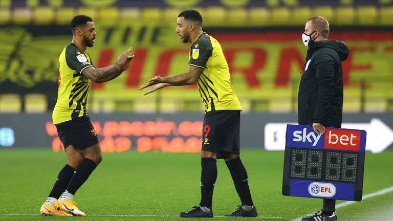 Troy Deeney replaces Andre Gray for Watford in their Sky Bet Championship match against Coventry City