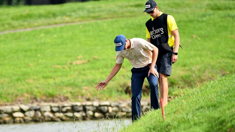 Nienaber was lucky to avoid water at the 17th