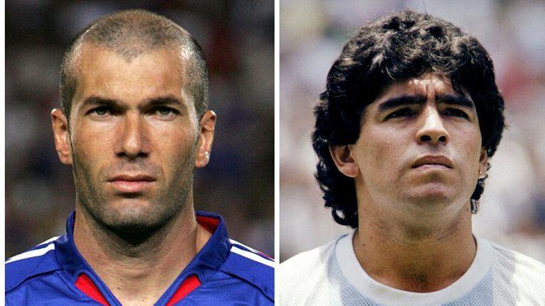 Zinedine Zidane and Diego Maradona