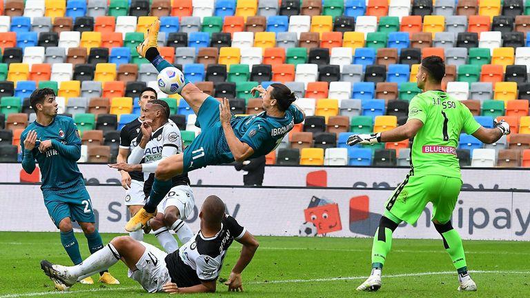 Zlatan Ibrahimovic's overhead kick for AC Milan against Udinese