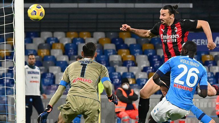 Ibrahimovic scores as AC Milan finally ended their wait to win at Napoli