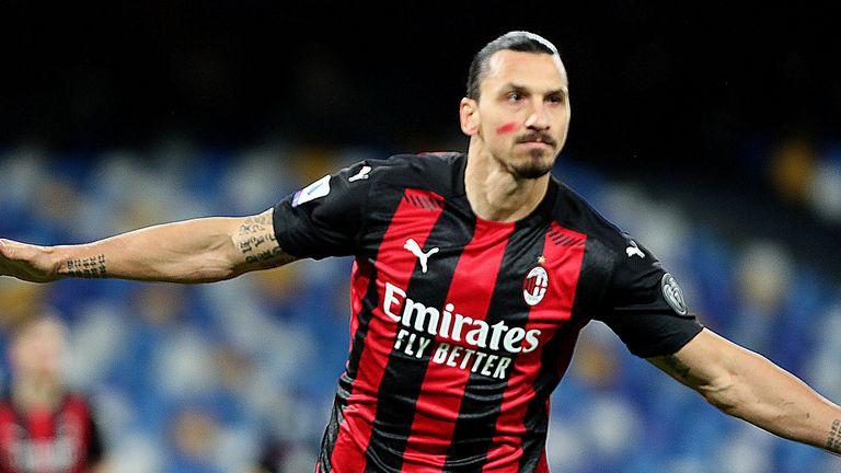 Zlatan Ibrahimovic scored twice as AC Milan beat Napoli in Serie A