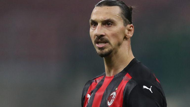 Zlatan Ibrahimovic in action for AC Milan against Verona