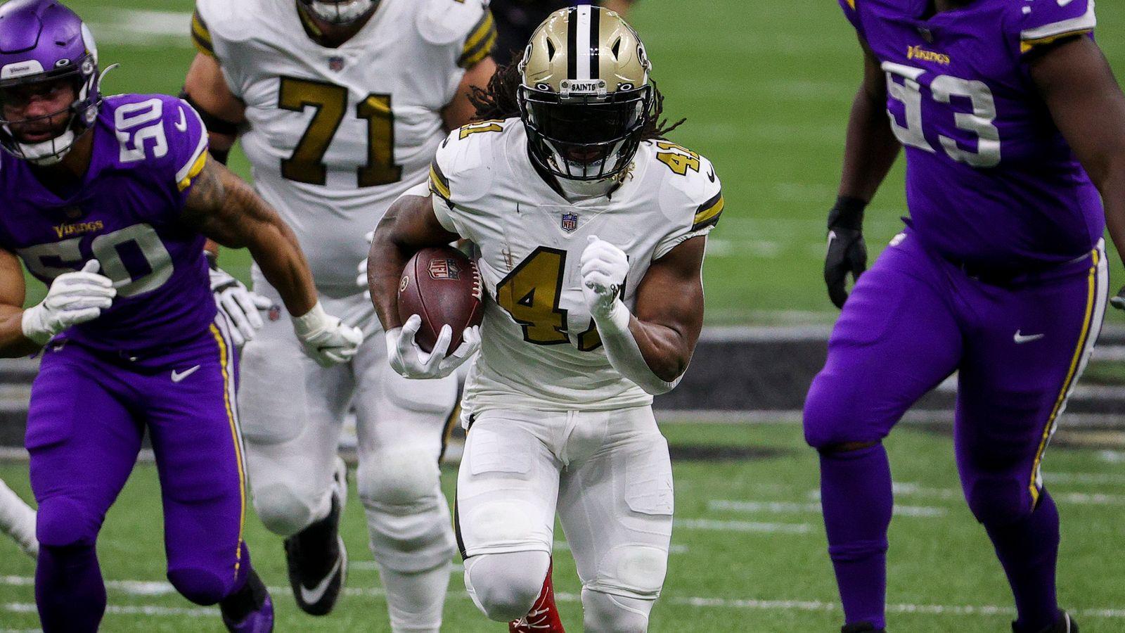 Minnesota Vikings 33-52 New Orleans Saints: Alvin Kamara runs riot in Christmas Day bonanza