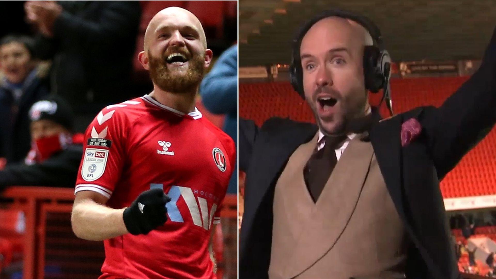 'He looks just like me!' - Tom Allen celebrates goal on Soccer Saturday