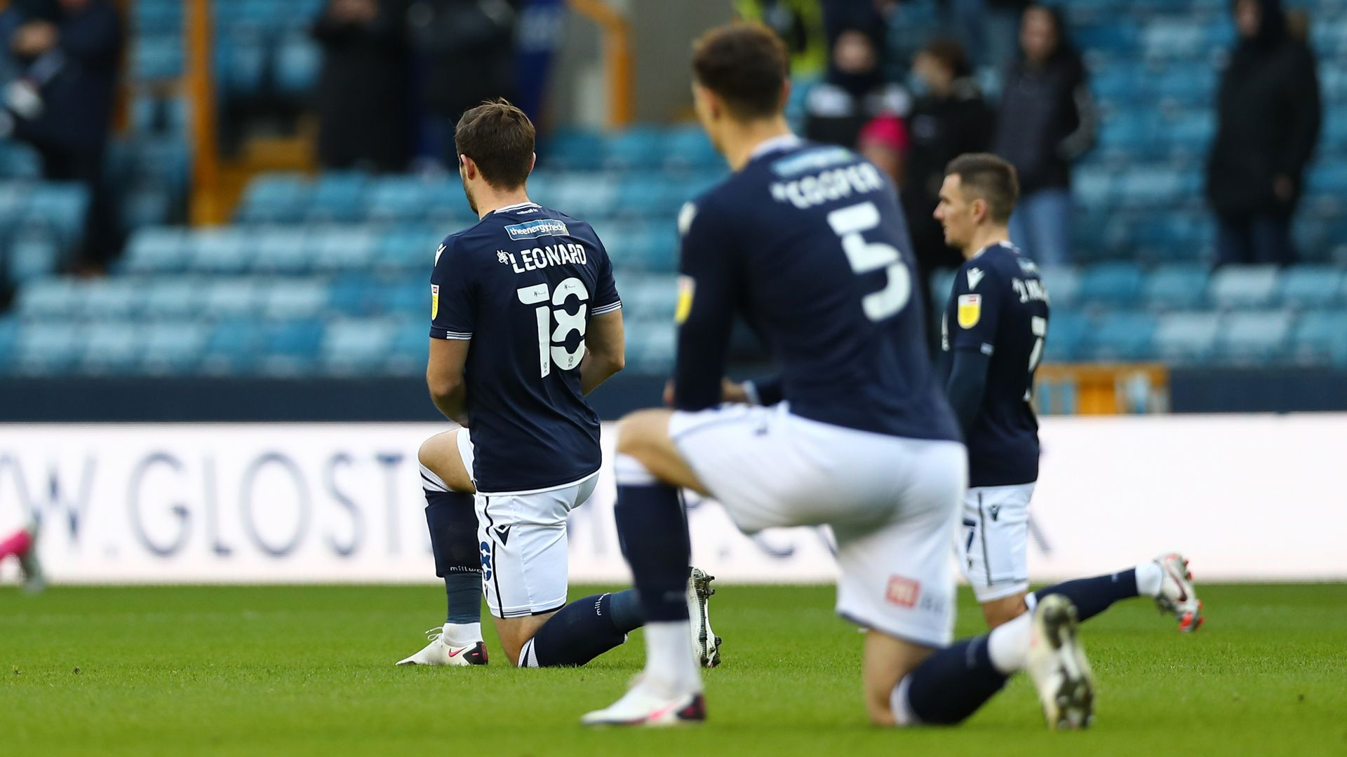Millwall players still plan to take knee before QPR clash