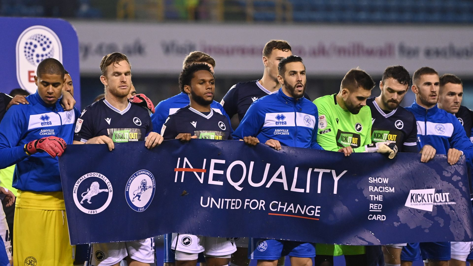 Millwall players decided against taking knee