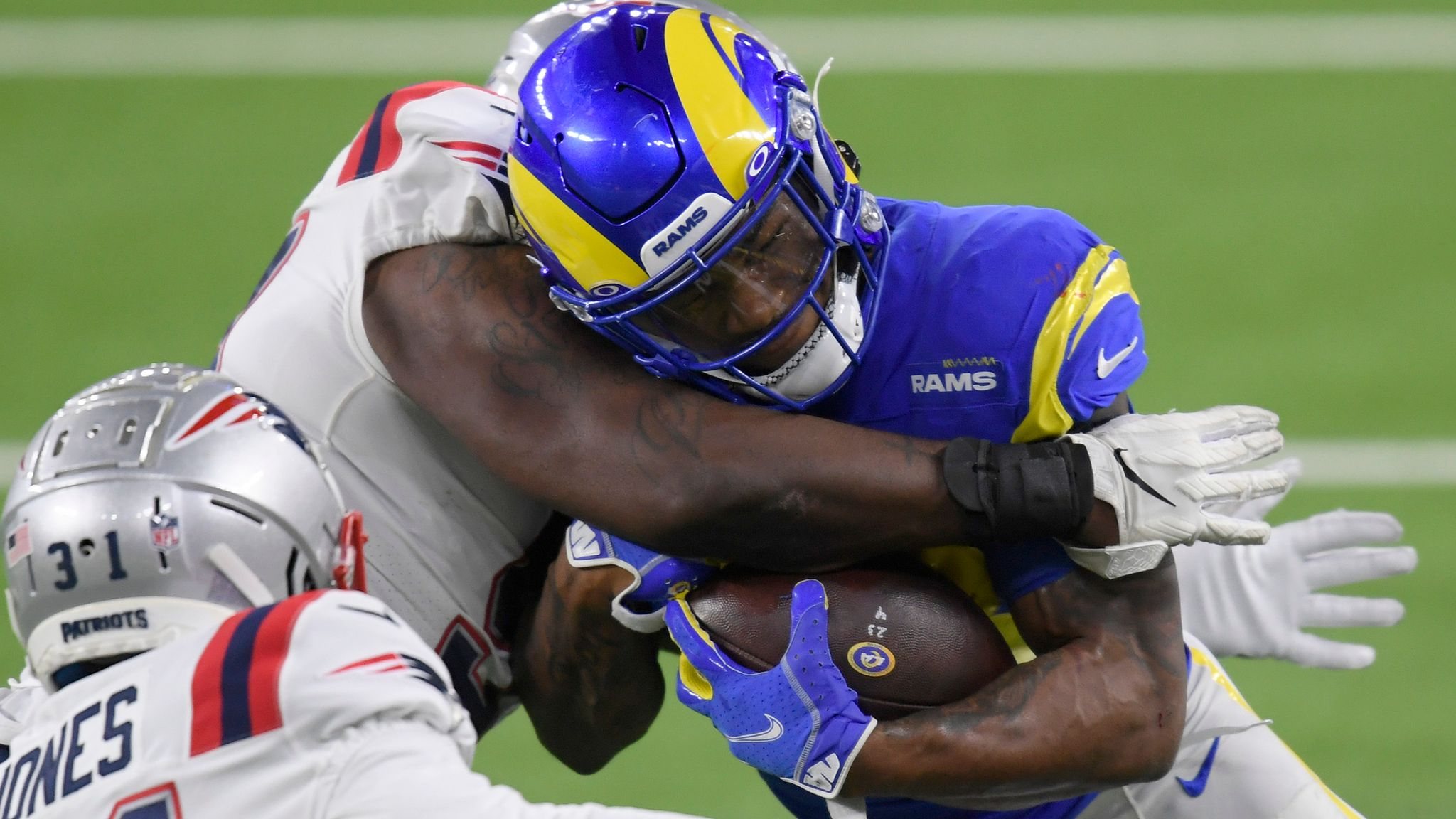 New England Patriots 3 24 Los Angeles Rams Cam Akers Rushes For 171 Yards In Blowout Win Nfl News Sky Sports