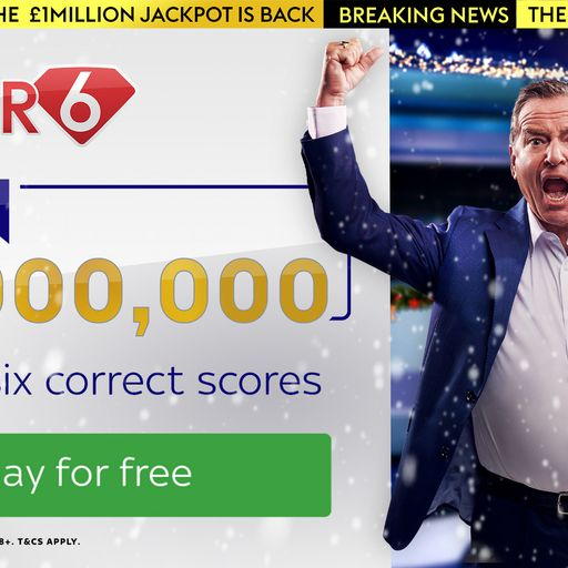 Win £1,000,000 for free with Super 6!