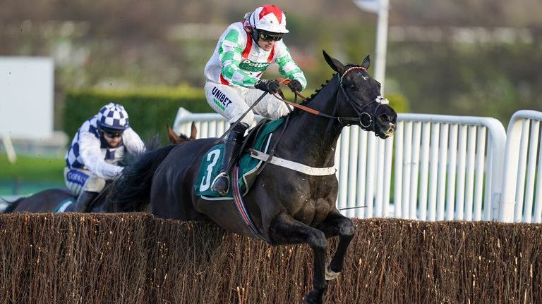 Mister Fisher on his way to victory in the Peterborough Chase