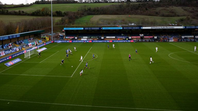 Wycombe fans will be allowed into Adams Park on Wednesday evening