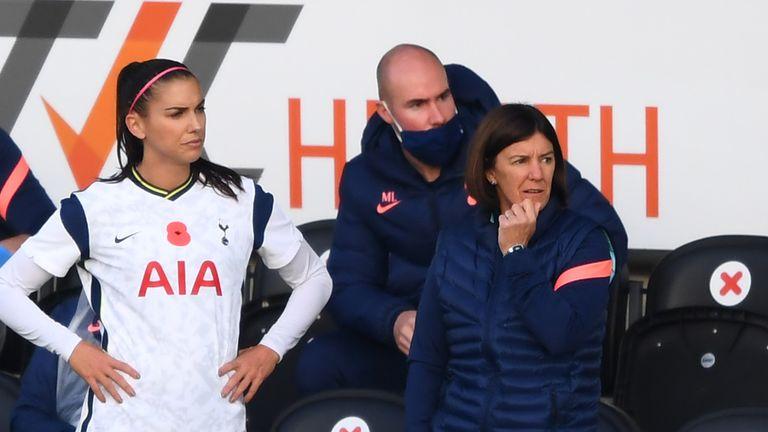Spurs Women player Alex Morgan and former co-head coach Karen Hills