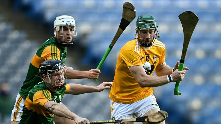 Niall McKenna came within inches of raising a green flag before the break