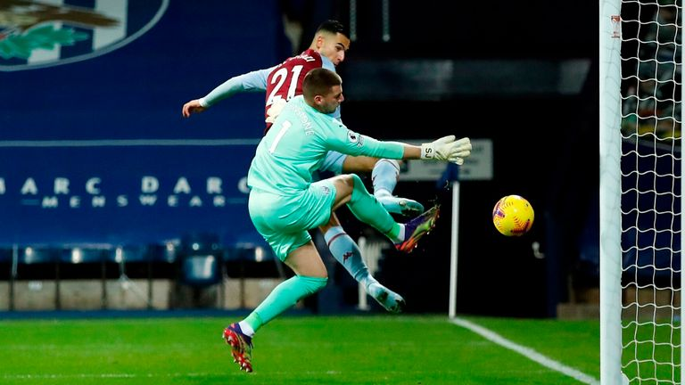 Anwar El Ghazi puts Aston Villa in front at West Brom