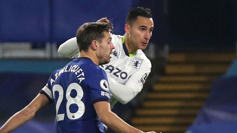 Anwar El Ghazi equalises for Villa at Stamford Bridge