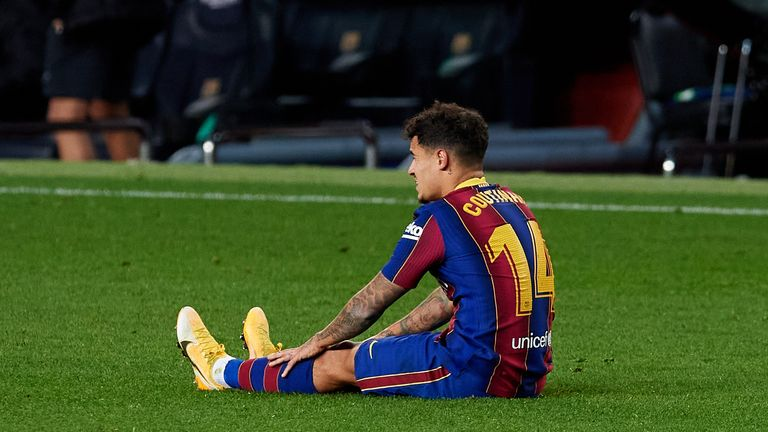 Philippe Coutinho was a second-half substitute against Eibar
