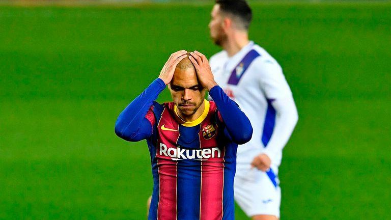 Martin Braithwaite missed a penalty as Barcelona were held