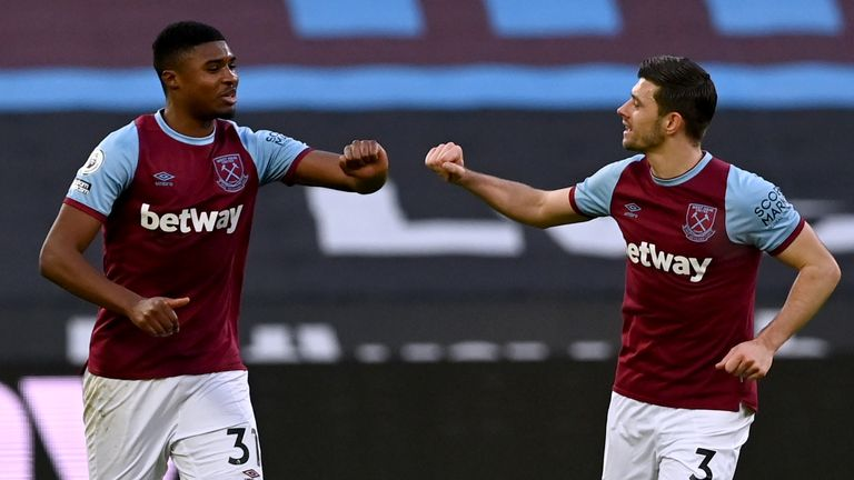 Ben Johnson celebrates his gal with Aaron Cresswell