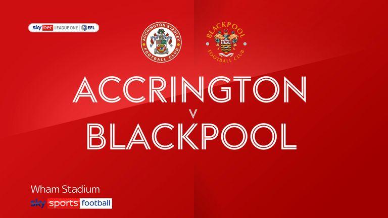 Accrington Stanley v Blackpool