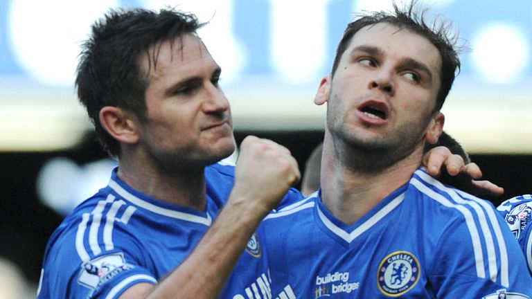 Frank Lampard and Branislav Ivanovic were team-mates at Stamford Bridge