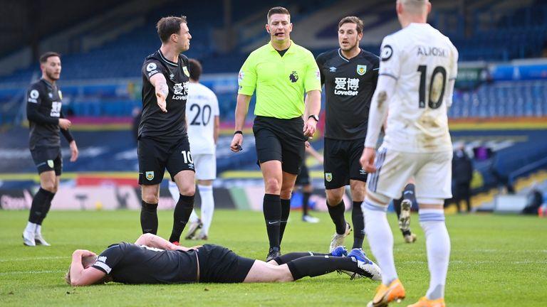 Referee Robert Jones immediately dismissed Ashley Vanesse's equalizer