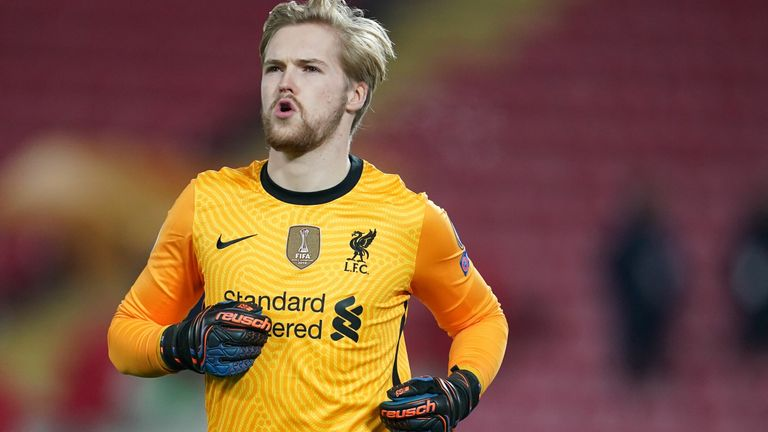 Caoimhin Kelleher started in goal for Liverpool against Ajax