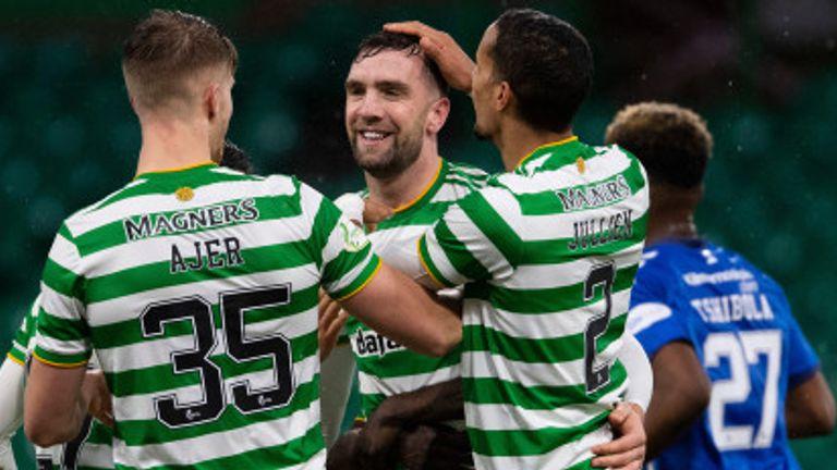 Shane Duffy and Celtic celebrate against Kilmarnock