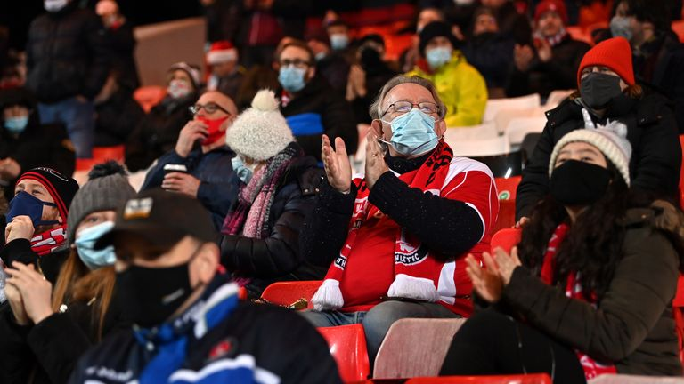 Charlton fans back at the Valley