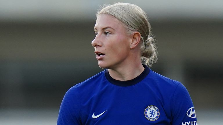 Bethany England scored twice in the 3-0 win at Kingsmeadow