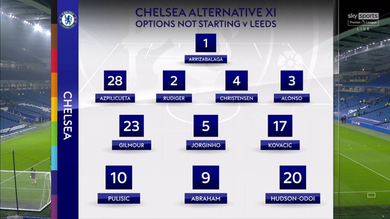 And the XI other senior players who did make the starting XI against Leeds