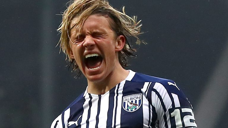 Connor Gallagher scored a first half equaliser for West Brom