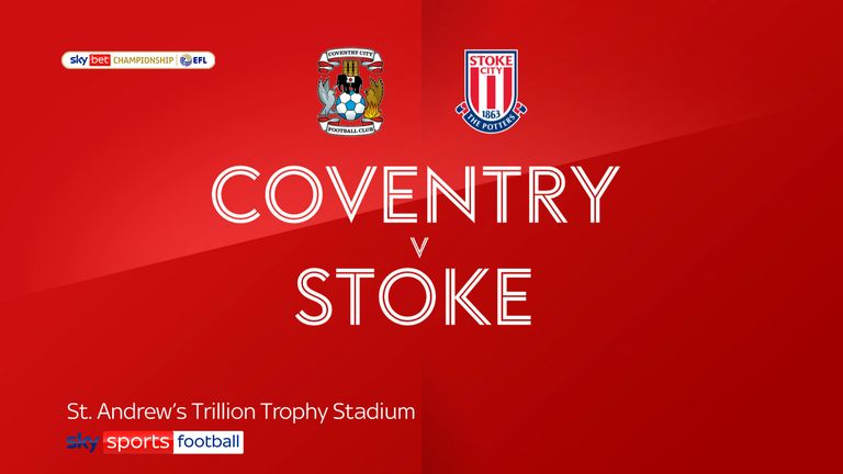Coventry v Stoke badge