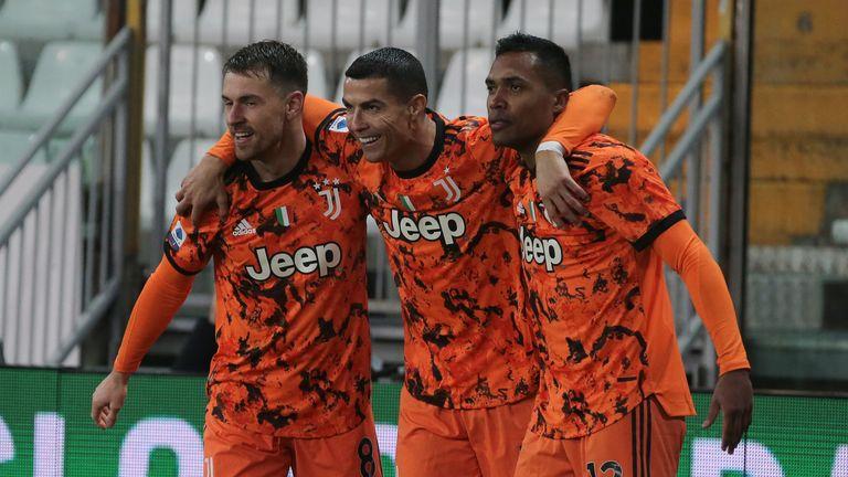 Juventus hammered Parma with Cristiano Ronaldo scoring twice