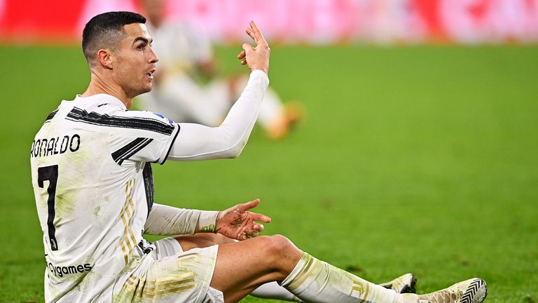 Cristiano Ronaldo could not stop Juventus sliding to their first defeat of the season