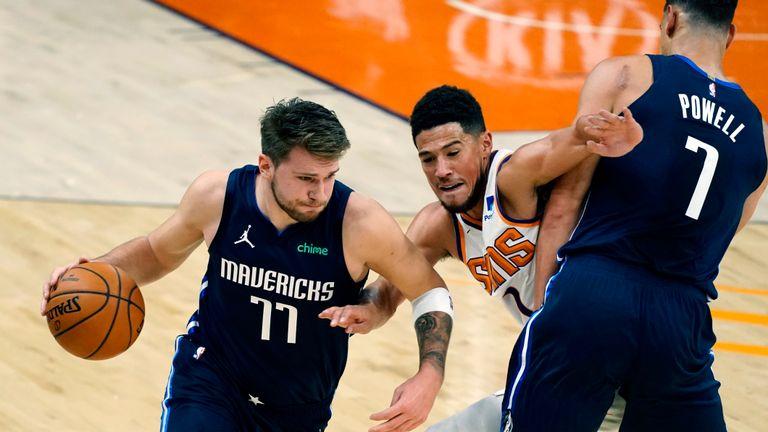 Dallas Mavericks up against the Phoenix Suns