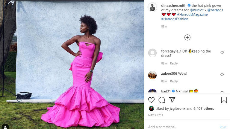 Away from the track, Dina Asher-Smith has crossed into the fashion industry (Instagram @dinaashersmith)