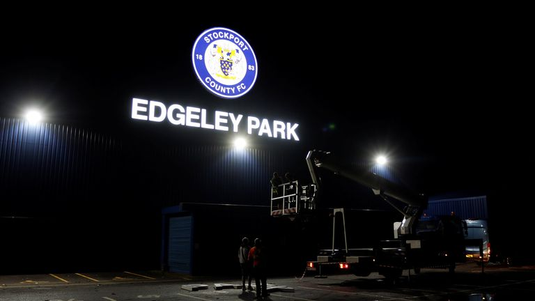 Edgeley Park, home of Stockport County [Credit: Stockport County]