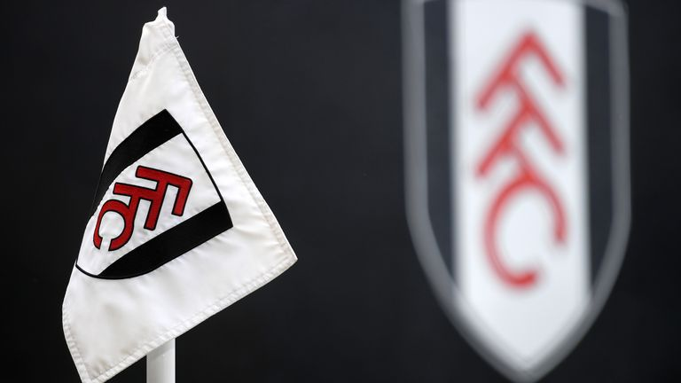 A Fulham corner flag is seen inside the stadium prior to the Premier League match between Fulham and Aston Villa