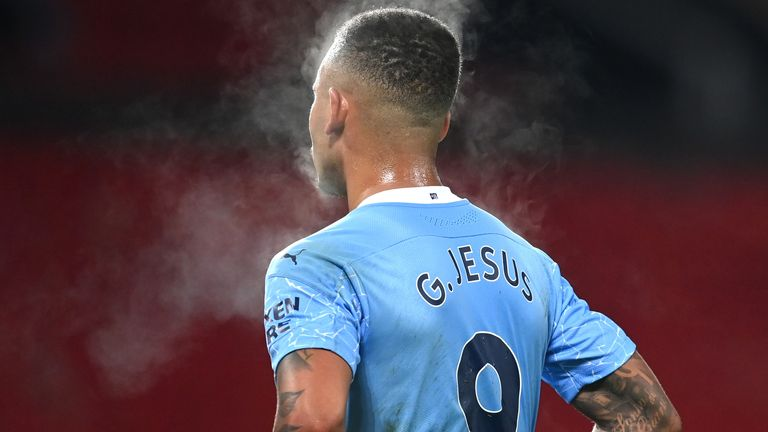 Gabriel Jesus had just one shot during the Manchester derby