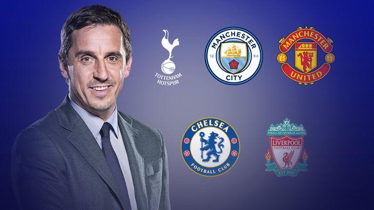 Gary Neville Premier League title piece
