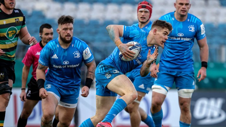 Leinster's Garry Ringrose on the charge