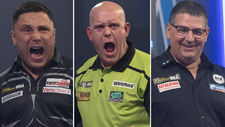 Gerwyn Price, Michael van Gerwen and Gary Anderson will all be vying for the World Darts Championship title