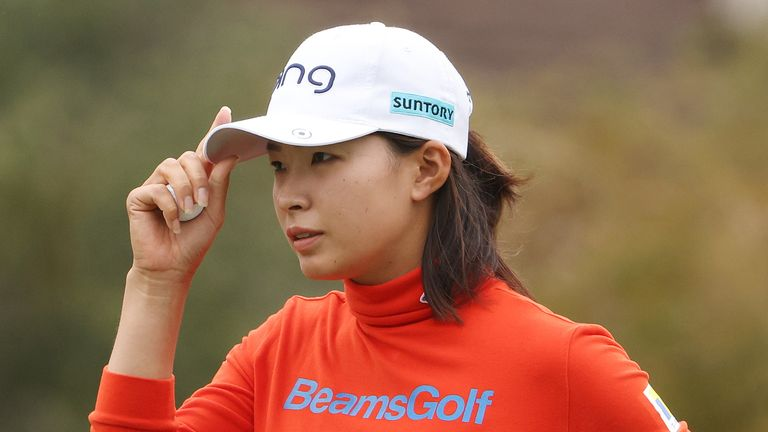 Hinako Shibuno is the second Japanese player in a row to lead at halfway