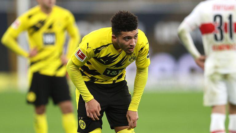 Jadon Sancho was unable to inspire Dortmund to victory over Stuttgart